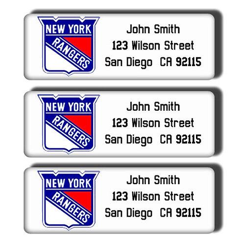 New York Rangers Labels