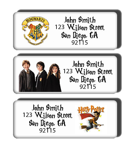 Harry Potter Movie or House Crest Labels