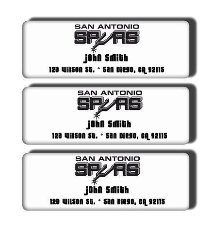 San Antonio Spurs Throwback Labels