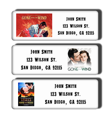 Gone With the Wind Labels