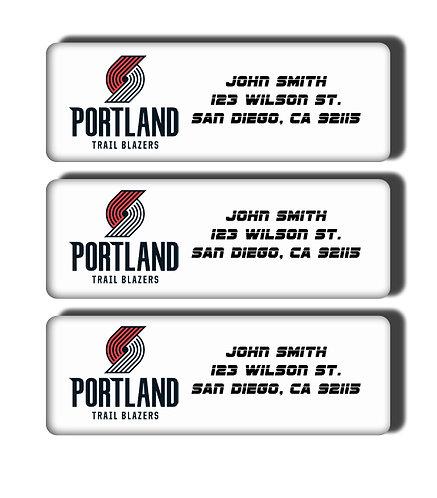 Portland Trailblazers Labels