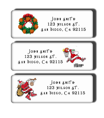 Choose A Sport Christmas Labels