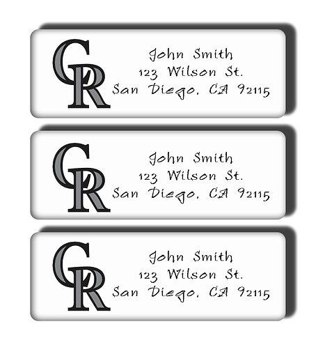 Colorado Rockies Labels