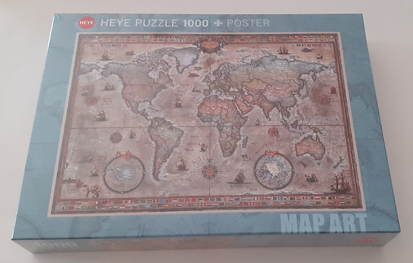 Puzzle 1000 pçs Retro World