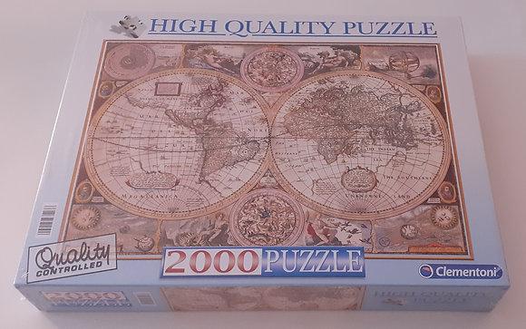 Puzzle 2000 pçs Mapa Antigo
