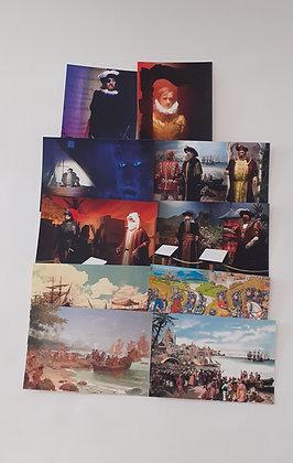 Colecção de 10 postais Museu de Cera dos Descobrimentos
