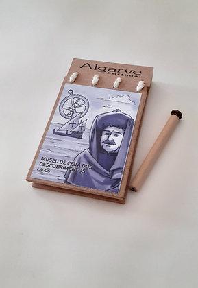 Bloco de notas com lápis
