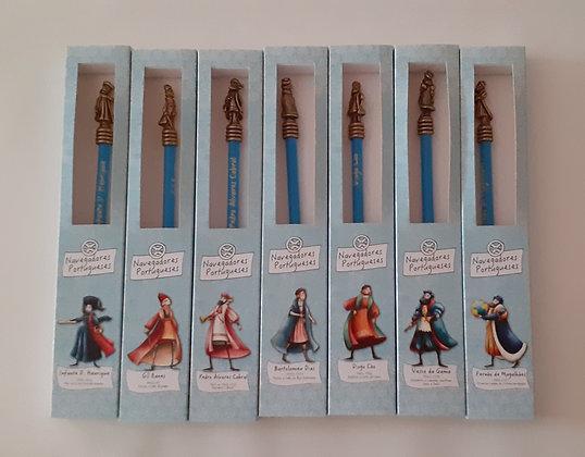 Lápis com pencil topper Navegadores Portugueses