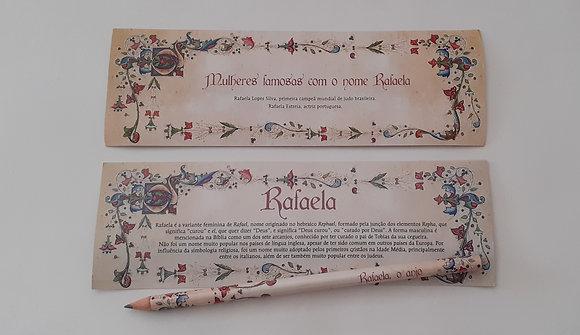 Lápis com marcador de livro Nomes Próprios - Femininos