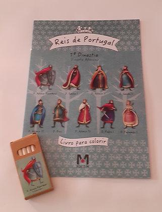 Livro de colorir dos Reis de Portugal