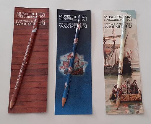 Lápis com marcador de livro Museu de Cera dos Descobrimentos