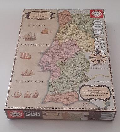 Puzzle 500 pçs Mapa Histórico de Portugal