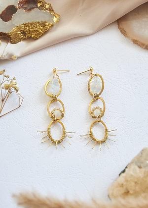 Chain Style Opalite Earrings