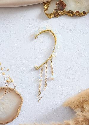 Custom - Opalite & Wired Snake Ear Cuff