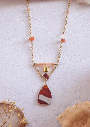 Carnelian Banded Agate Necklace
