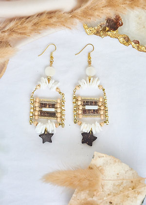 Coco Beaded Exotic Earrings