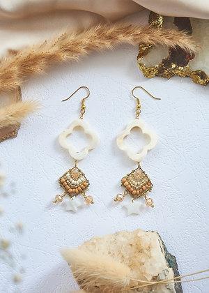Shell Beaded & Star Earrings
