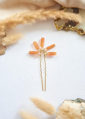Sun Carnelian Hair Pin