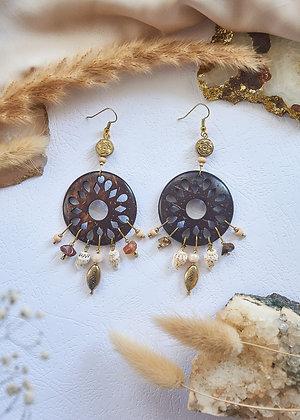 Coco Shell & Beaded Earrings