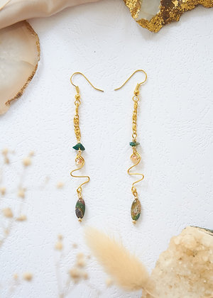 Dainty Serpentine Earrings