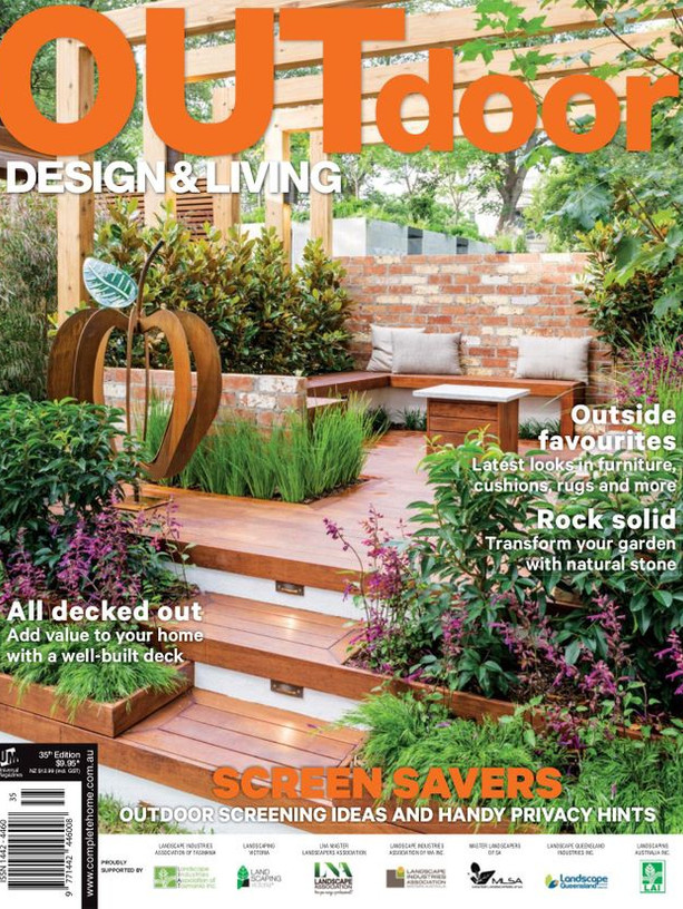 Kihara Landscapes Japanese garden featured in Outdoor Living Iss 35