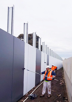 Freeway barrier - commercial painting