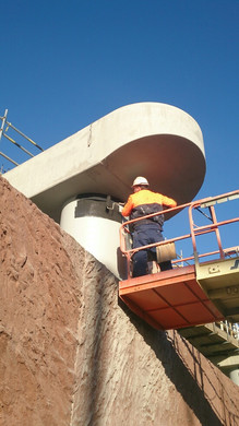 Commercial Painting - Freeway structure