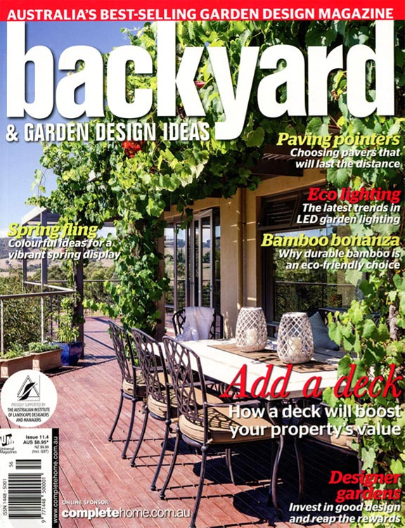 Kihara Landscapes Japanese garden featured in Backyard Edition 11.4