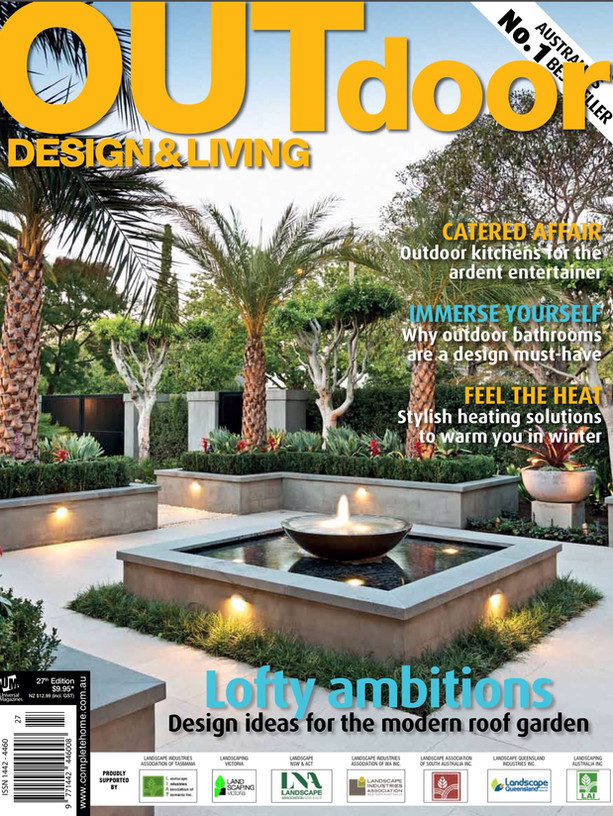 Kihara Landscapes Japanese garden featured in Outdoor Living Iss 27