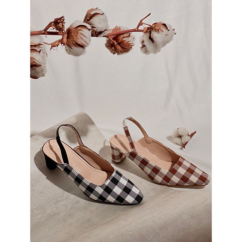 Vintage Shoe Checkered Heels