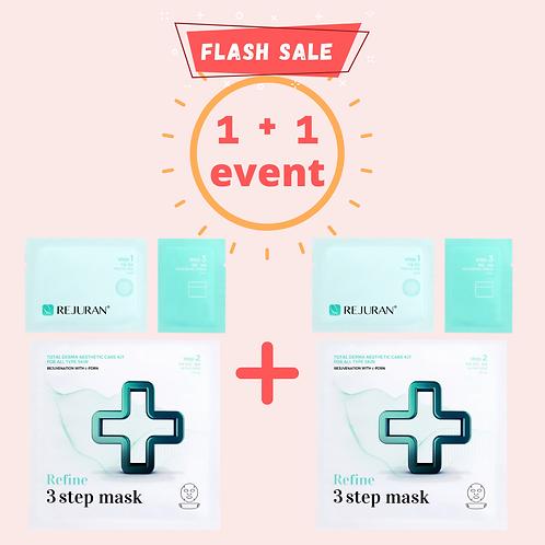 [1+1 EVENT: BUY 1 FREE 1] Rejuran 3 Step Mask