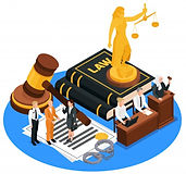 law-justice-isometric-composition-with-g