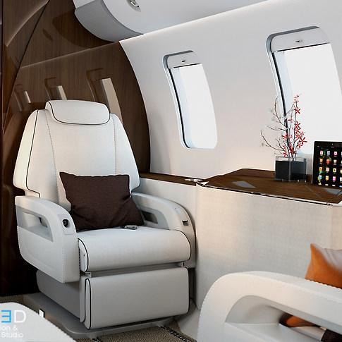 Interior Private jet 02