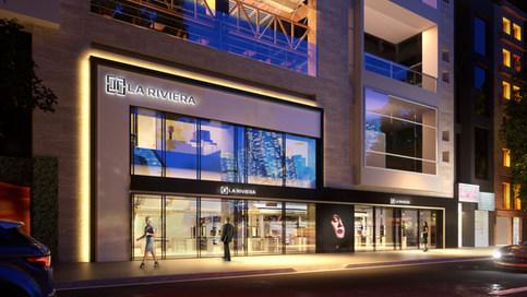 La Riviera-fachada nocturna opcion 02-FI