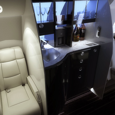Galley Private Jet