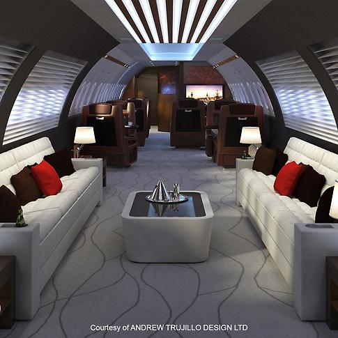 Interior Private jet