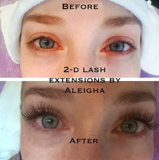 2-D Lash Extensions by Aleigha