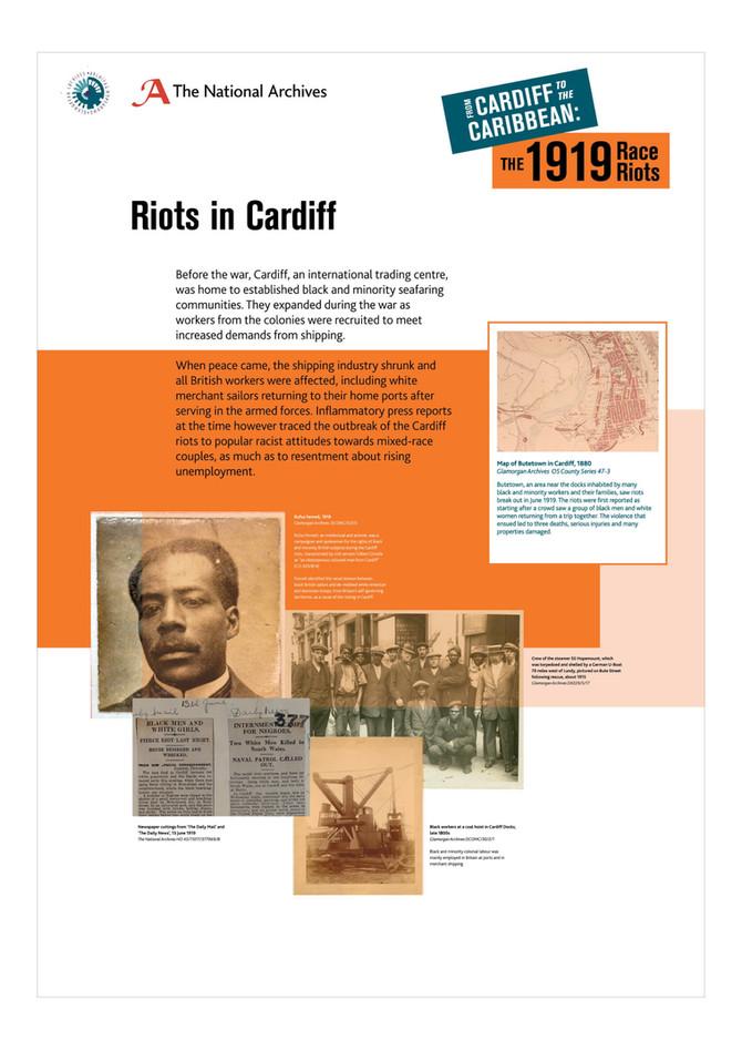 NATIONAL ARCHIVES | 1919 race riots exhibition panels