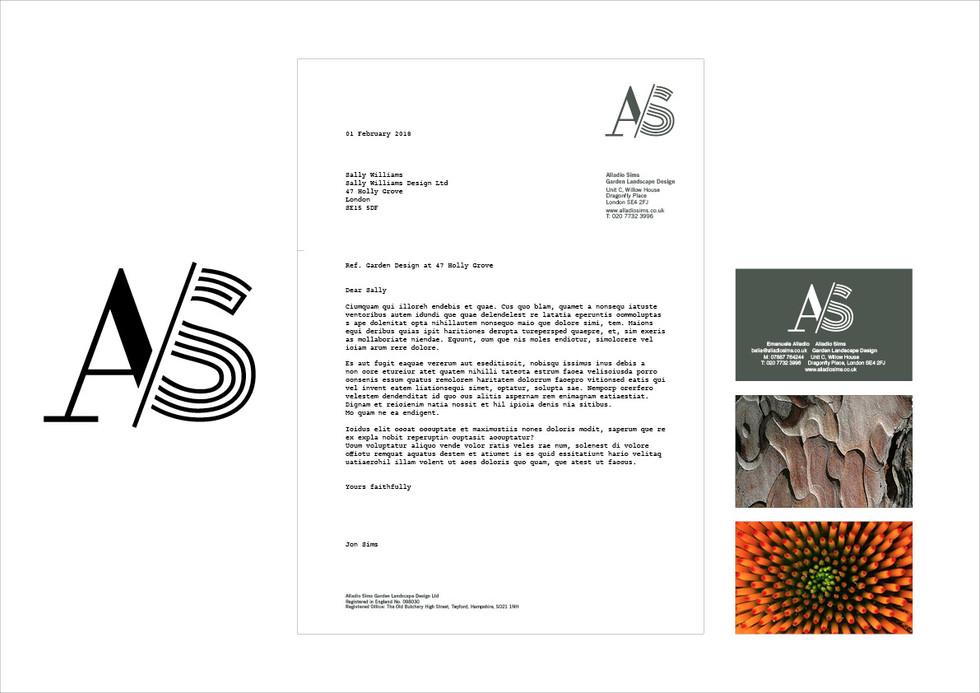 ALLADIO SIMS | Identity for garden landscape design company