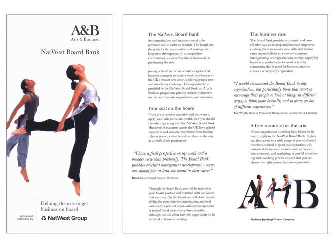 ARTS & BUSINESS | Leaflet series