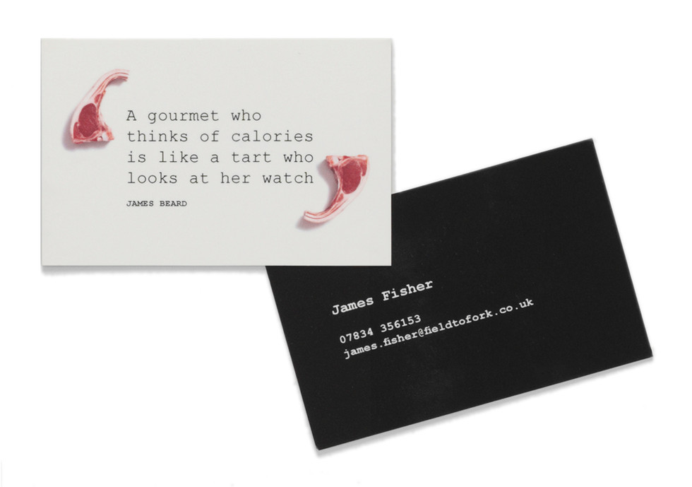 FIELD TO FORK | Identity for food consultant