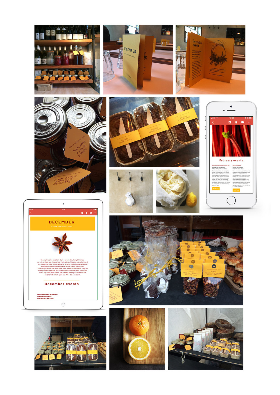 PECKHAM REFRESHMENT ROOMS | Brand development for restaurant across packaging, print and digital newsletters