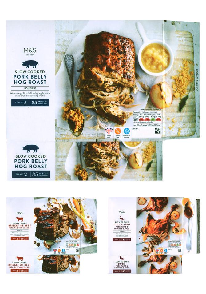 M&S   Slow-cooked roasts packaging range