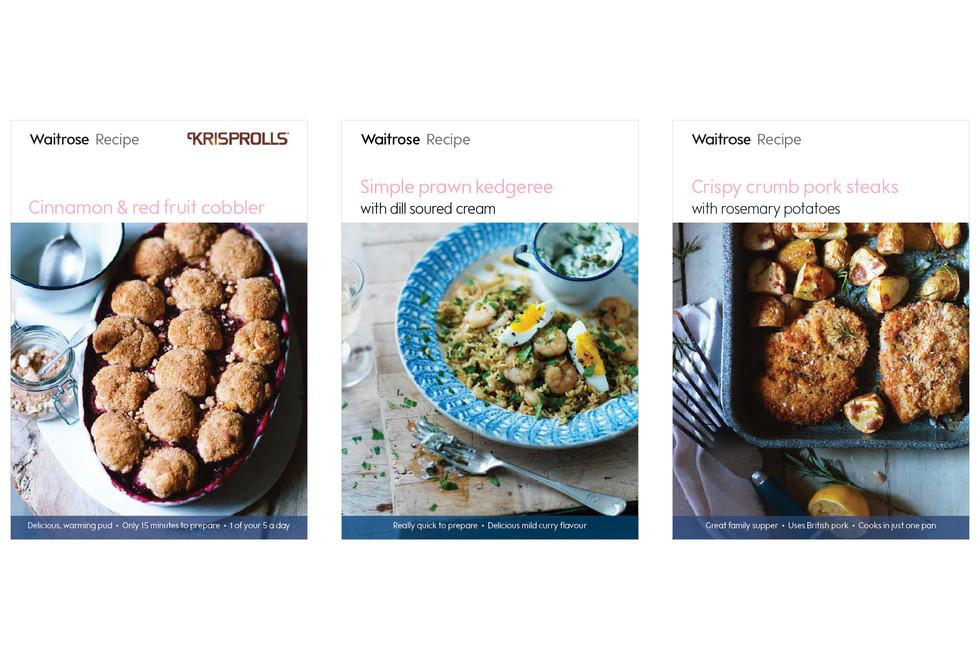 WAITROSE | Recipe cards