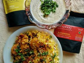 Husein's Chicken Roganjosh Biryani with Teesi Ka Raita