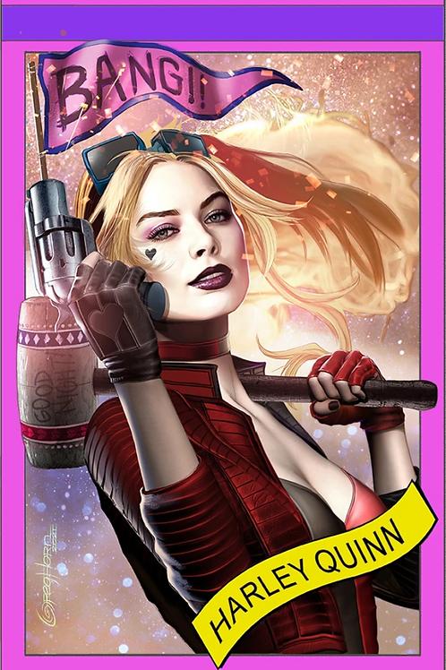 Harley Quinn #3 - Greg Horn Celebrity Variant (W/ Logo)
