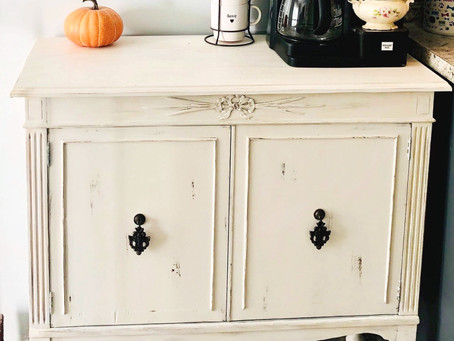 Outdated China Cabinet to Farmhouse-Fabulous Coffee Bar