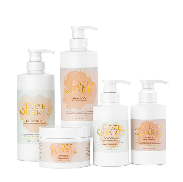 Hair care product photography