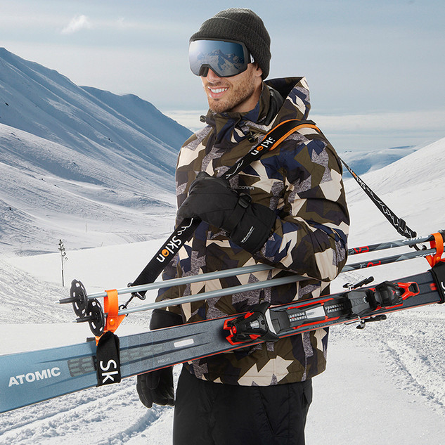 Ski accesories lifestyle product photography