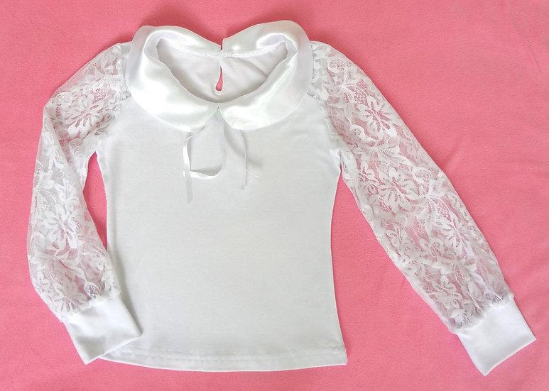 Блуза школьная с длинным рукавом